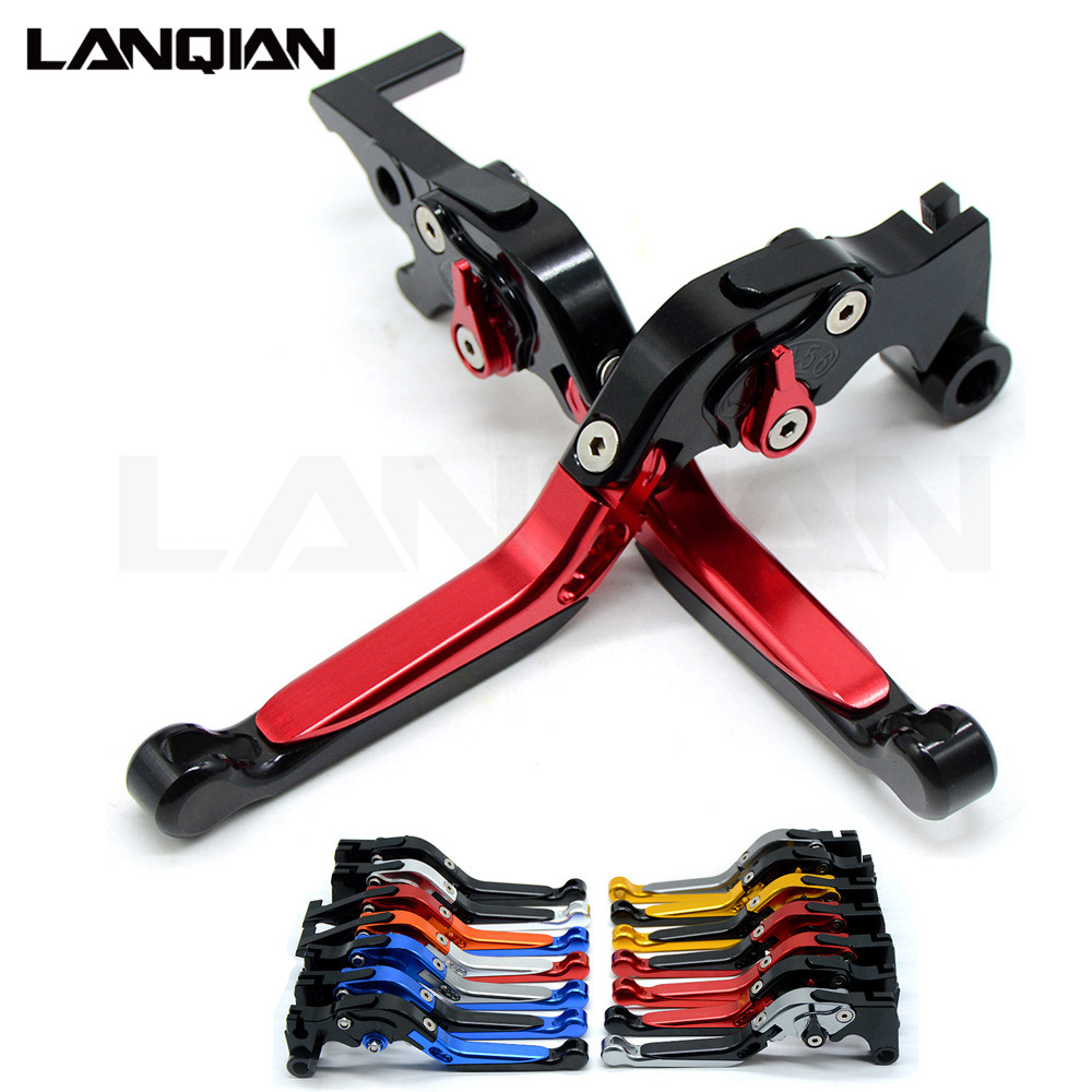 For SUZUKI SV650 2016 2017 2018 CNC Motorcycle Accessoires Adjustable Folding Brake Clutch Levers SV 650 With LOGO cnc motorcycle foldable lever motobike motocross brake clutch levers case for suzuki sv650 sv 650 2016