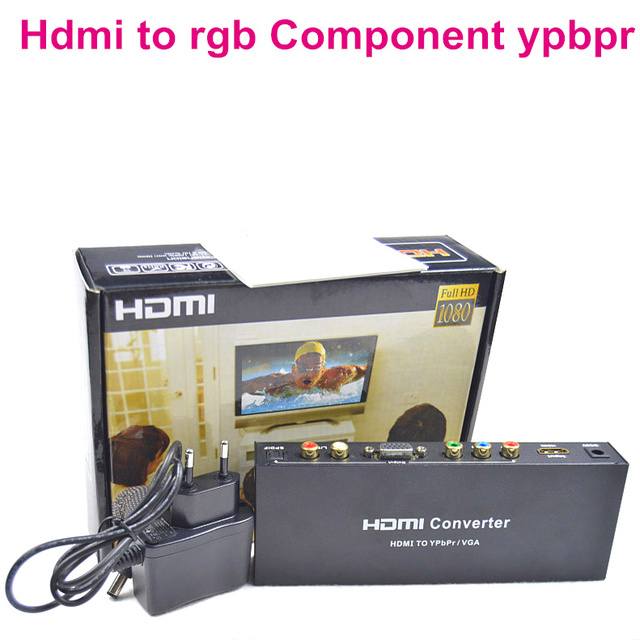 BrankBass HDMI to RGB Component YPbPr Audio Video Adapter HDMI to VGA /SPDIF/RL Converter Support 5.1CH Surround Sound