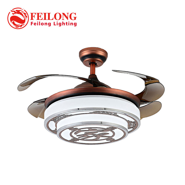 Chinese style ceiling fan hidden blades y4220 red body retractable chinese style ceiling fan hidden blades y4220 red body retractable blades creative design ceiling fan lamp aloadofball Choice Image