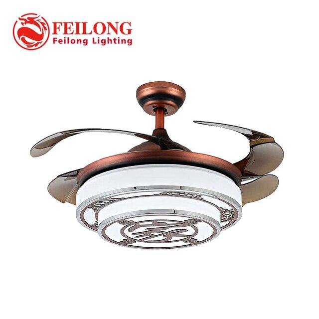Chinese style ceiling fan hidden blades y4220 red body retractable chinese style ceiling fan hidden blades y4220 red body retractable blades creative design ceiling fan lamp aloadofball Gallery