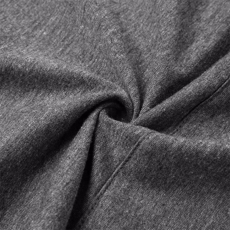 Grå långärmad T-shirt Hooded 2018 Nya Women Sweatshirt Pocket - Damkläder - Foto 5