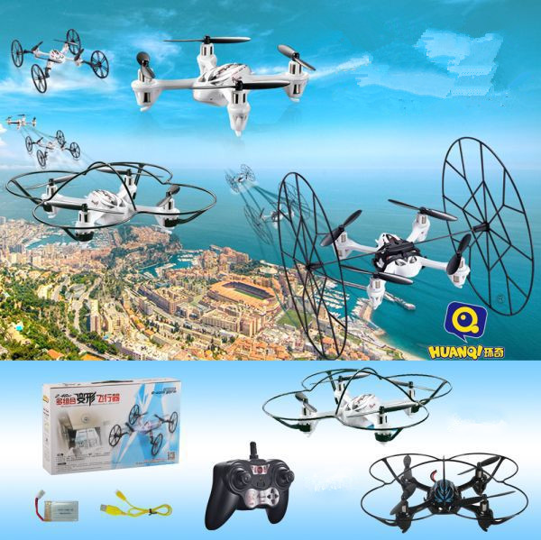 цены mini rc drone UFO toy 2.4G 4 CH 6 axis RC quadcopter headless mode Transformable 3D filp drone remote control toy for child gift