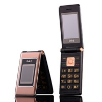 2.6 flip russian keyboard dual sim cheap senior mobile phone gsm china Phone Elder clamshell Cell phones H mobile MK008