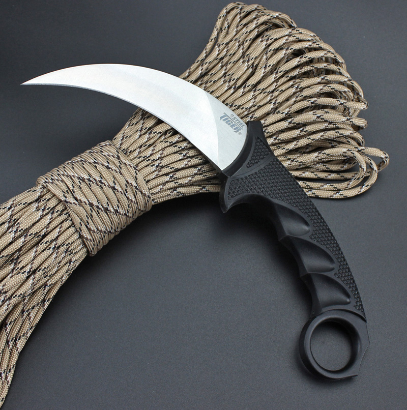 Mengoing Cold Steel Tiger Military Combat Claw 440 Steel 58HRC Hardness Outdoor Self-Defense Karambit Knife Hot image
