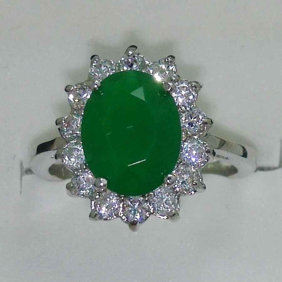 จัดส่งฟรี>>>@@ 0x Size6-9หยกแต่งงานหมั้นแหวนเจ้าหญิง