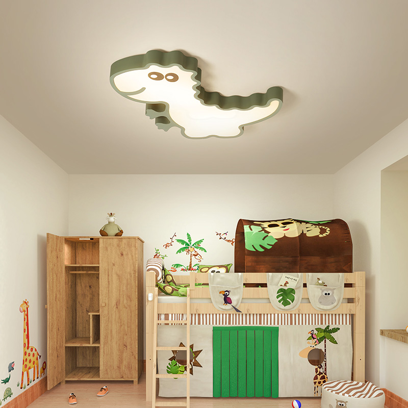 Éclairage moderne de lustre de bois pour le salon étude chambre lustre de plafond de bande dessinée en métal pour des filles et des garçons d'enfants