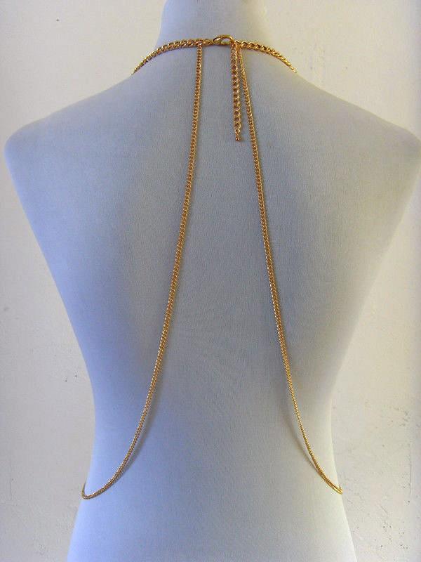 HTB1lGhtHpXXXXcOXFXXq6xXFXXXU Tasseled Bikini Harness Belly Body Chain
