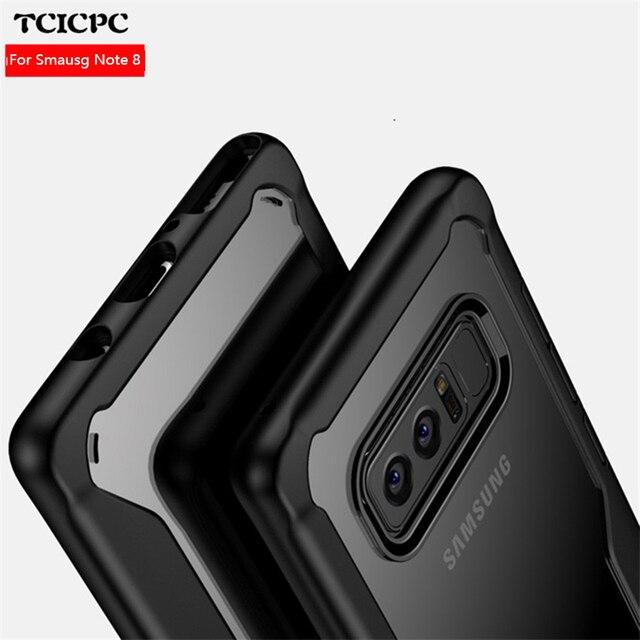Tcicpc чехол для Samsung Galaxy Note 8 чехол Samsung Примечание 8 чехол ультра тонкий Силиконовый ТПУ Рамка акриловая задняя крышка для Galaxy Note8