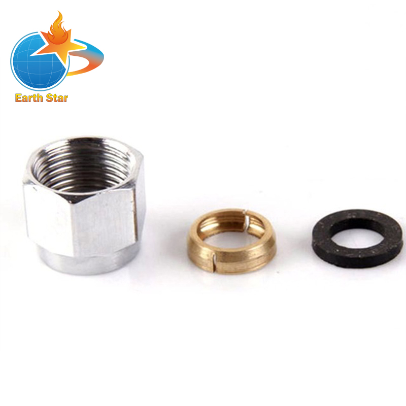 5 PCS 1/2 Gas Cap Stainless Steel Quick Tube Cap Stainless Steel Bellows Quick Access Nuts цена