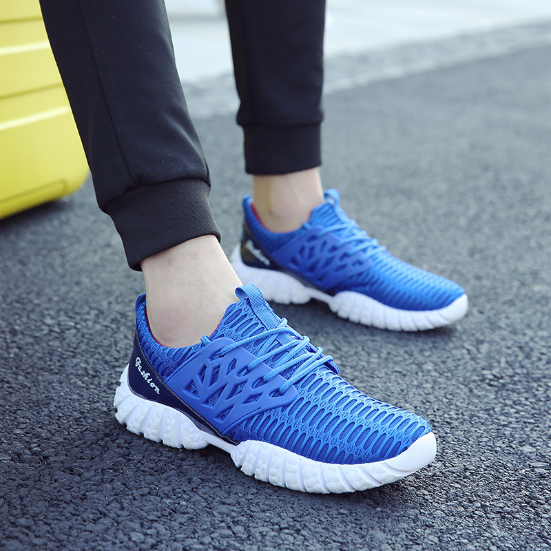 ФОТО 2017 NEW Fashion Men casual shoes, Men's flats Shoes men breathable walk shoes leisure Zapatillas lovers Casual Shoes size