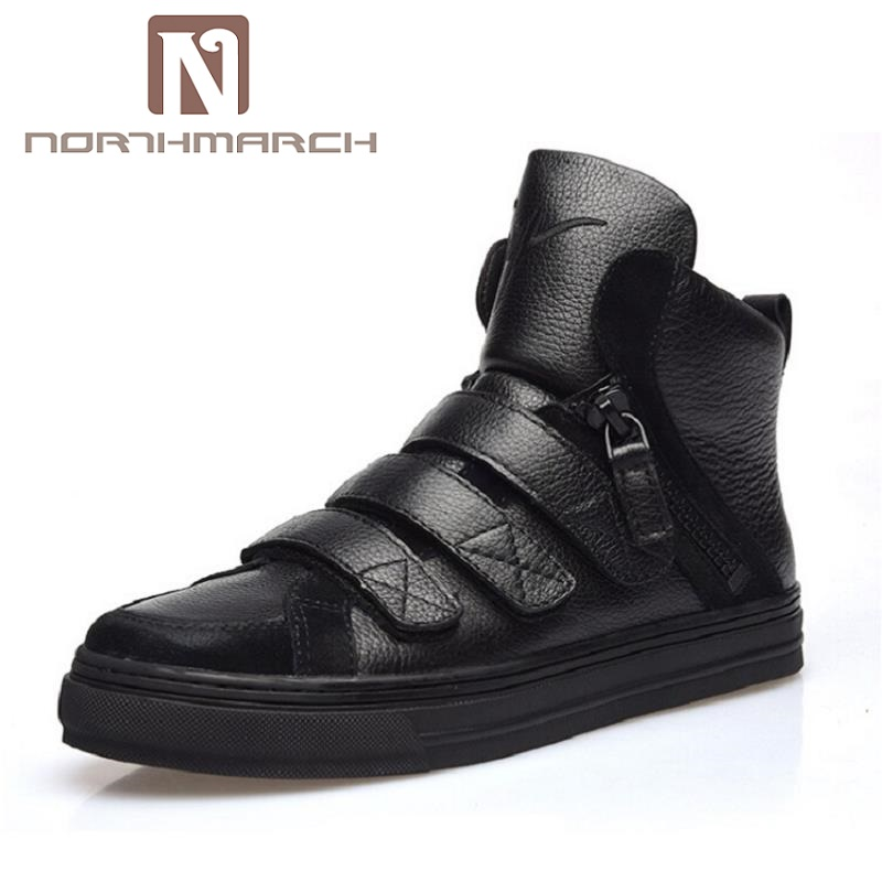 NORTHMARCH New Spring Autumn Men Black Casual Shoes Men High Tops Hip Hop Shoes Zapatos De Hombre Winter Male Scarpe 2016 new autumn winter man casual shoes sport male leisure chaussure laced up basket shoes for adults black