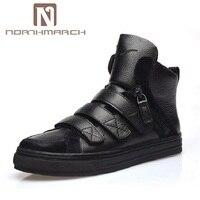 Northmarch新しい春秋男性黒カジュアルシューズ男性高はヒップホップの靴zapatosデやつ冬男