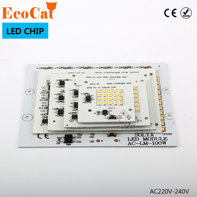 LED Chip Beads  220V led Lamp 10W 20W 30W 50W 90WLED Beads Smart IC For Outdoor Flood Light Cold White/Warm White