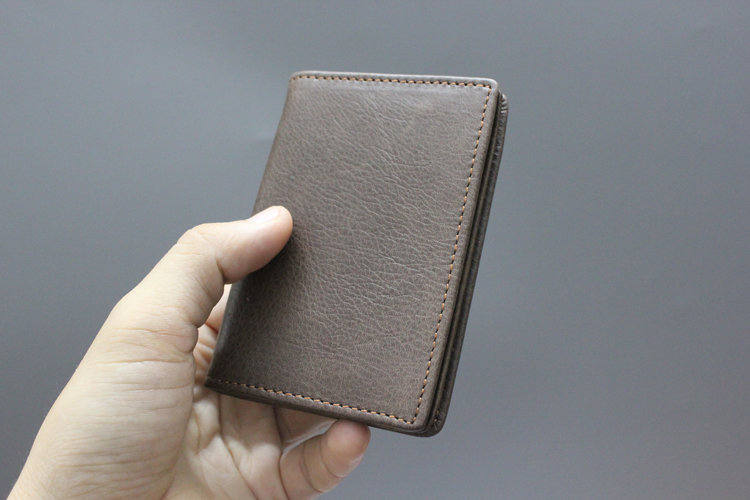 75eab4814bd Women's Small Genuine Leather Credit Card Holder Men's Business Card Wallets  with ID Window Mini Wallets-in Card & ID Holders from Luggage & Bags on ...