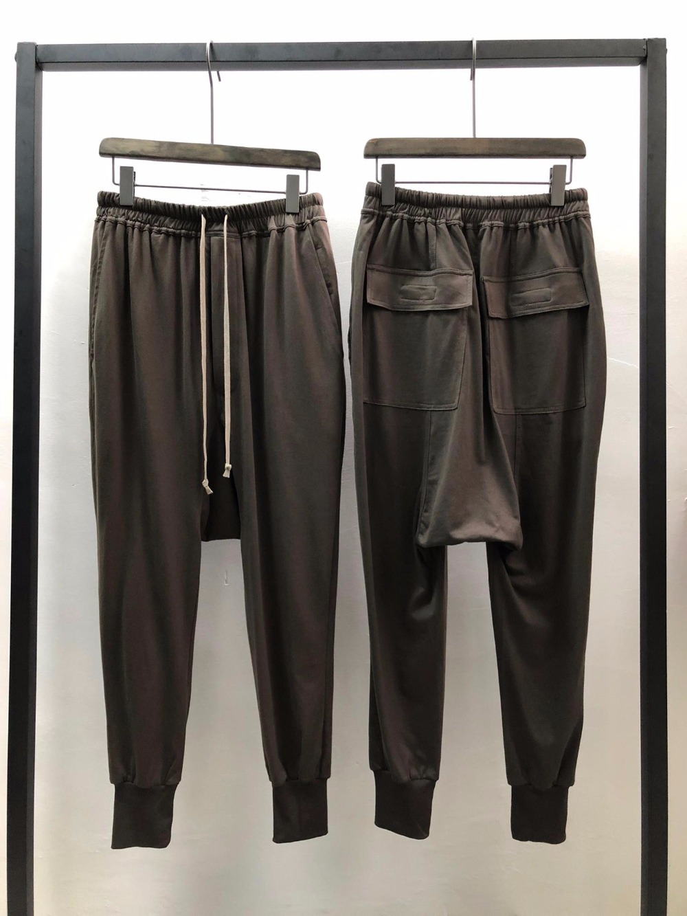 Owen Seak Men Casual Hallen Pants 100% Cotton Gothic Men Clothing Sweatpants Summer Lightweight Women Solid Loose Pants Size XL