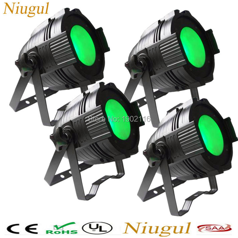 4pcs/lot RGBW 100W COB LED par light DMX512 Theater Spotlight 4in1 LED Stage Lighting high bright 100W cob led wash effect light 4pcs lot 100w cob led par can 4in1 rgbw color dmx 100w cob led par led dmx wash stage light ktv dj disco lighting free shipping