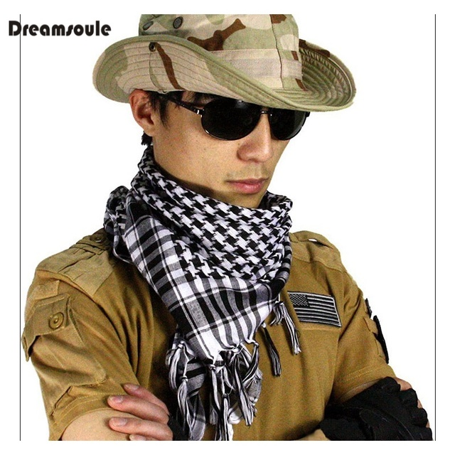 100x100cm Outdoor Hiking Scarves Military Arabian Tactical Desert Scarf  Army Shemagh With Tassel For Men Women 745f14356