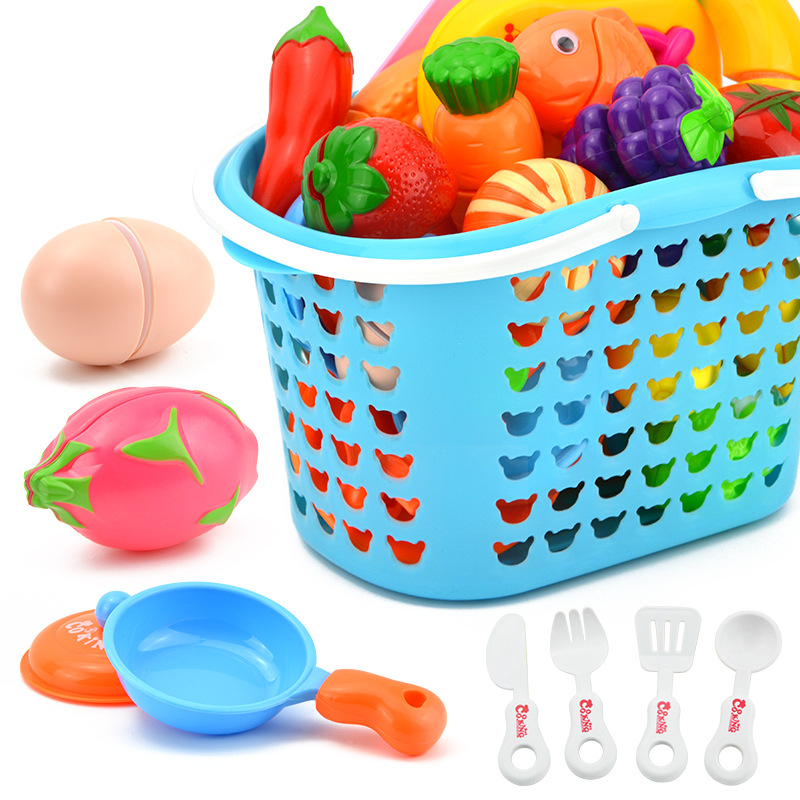 1Pcs DIY Pretend Play Toy Simulation Kitchen Food Vegetable Fruit Set Cooking Cutting Educational Toys  For Children Kids Gifts