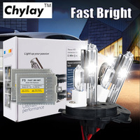 1 conjunto de Kit xenon Hid 0.1 Segundo F5 Rápido Brilhante 55 w AC HID H4 kit xenon e Lâmpada Halógena 4300 k 6000 k 8000 k luz do carro lâmpada