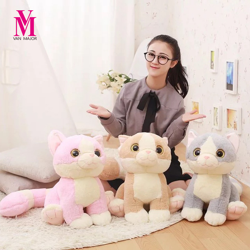 45/65cm Cute The Long Tail Cat Plush  Toys  Animals Doll Stuffed Plush Baby Pillow Sleepping Cushion Cat Doll Birthday Gift Kids cute boobs penis sytle plush pp cotton pillow sexy cushion doll toys birthday present
