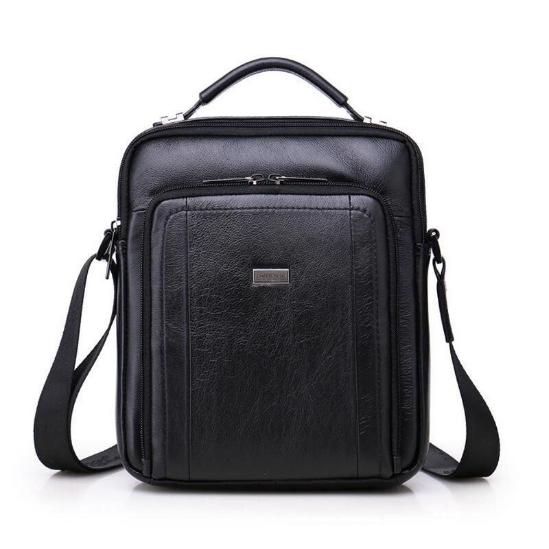 цена на Fashion Brand Genuine Leather Men's Crossbody Bags Hot Sale  New Men Shoulder Bags Male Handbags  Casual  Travel Bag