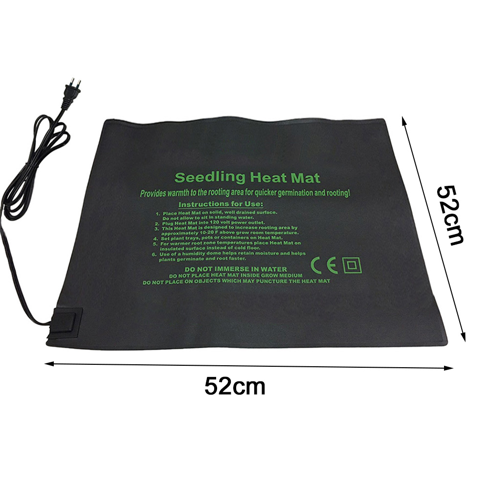 24*52cm 52*52cm 121*52cm Plant Heating Mat Seedling Flower Electric Blanket Waterproof Warm Durable Hydroponic Heating Pad