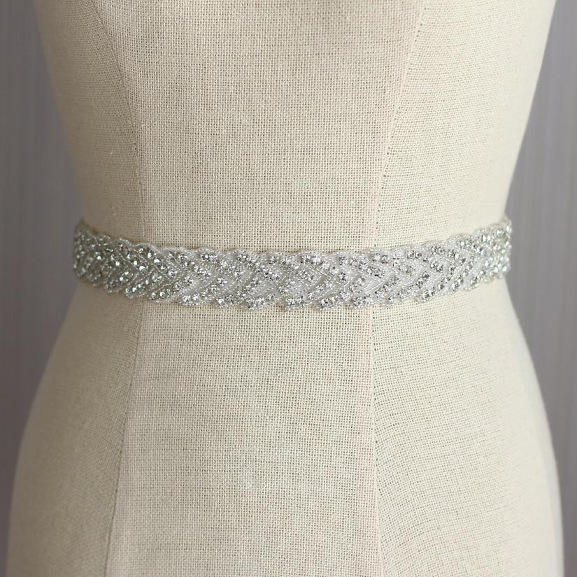 Unique Wedding Dress Sashes Belts: Bridal Dresses Belt Wedding Sash Luxury Diamond Crystal