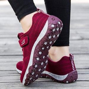 Image 5 - Женские кроссовки на шнуровке PINSEN, черные повседневные кроссовки на толстой подошве, удобная обувь для мам на осень 2020