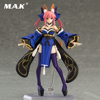 Collectible Japanese Anime Figure Fate/EXTRA Caster 14.5cm Cute Fox Tamamo no Mae figma 304 # for Children Kid Gift with Box