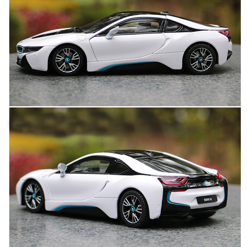 Rastar Bmw I8 Diecast Toy Car Model Hot Original Diecasts Metal