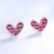 цены New Arrival Romantic Small Love Heart Cz Zircon 925 Sterling Silver Ladies Stud Earrings For Women Jewelry Gift