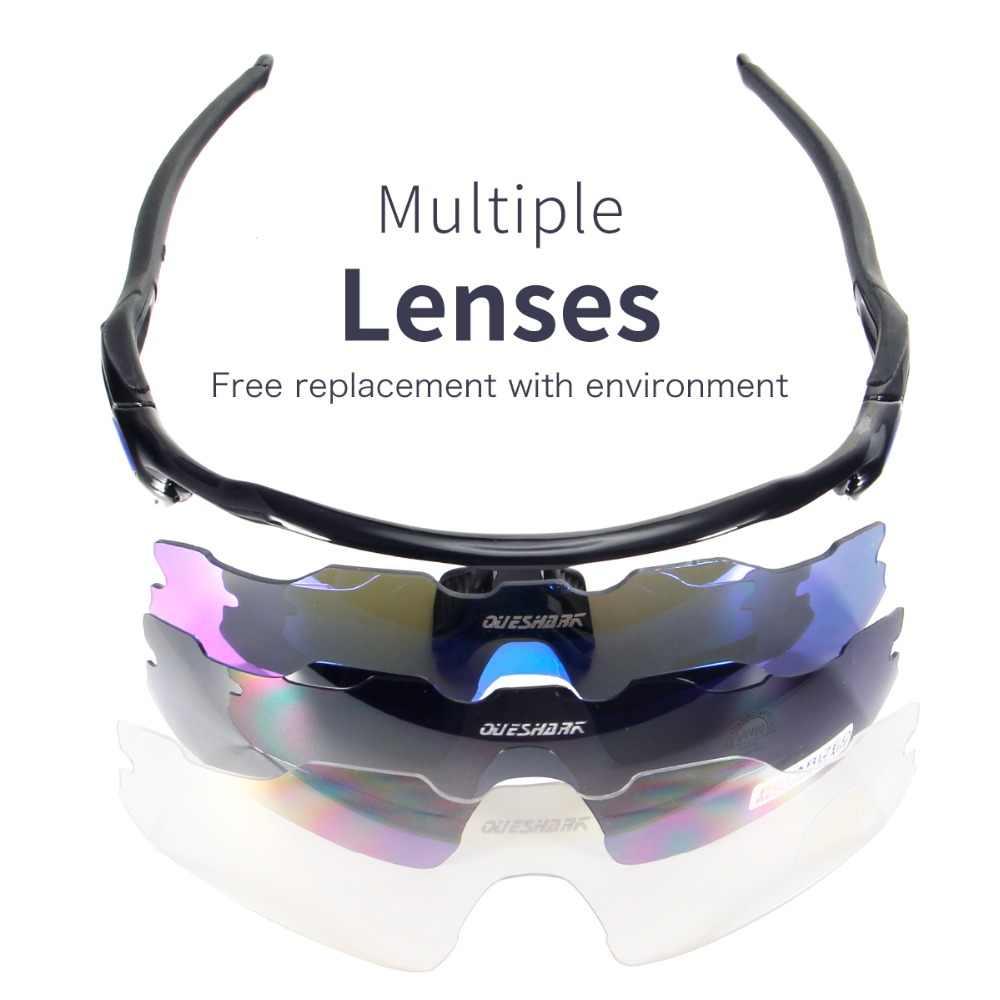 fdd1c03818f4 ... 3 Lens Cycling Glasses Polarized Sunglasses Sport Hiking Eyewear Riding  Bicycle MTB Bike Glasses UV400 TR90 ...