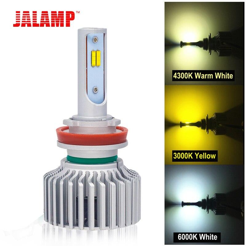 60 W 1 Paire 3 couleurs Changeantes 3000 K 4300 K 6000 K LED Voiture Lumières Ampoules lampes 12 V Phare H1 H3 H4 H7 H8 H9 H11 9005 9006 880 881
