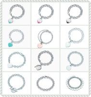 SHINETUNG 1:1 S925 Sterling Silver Original TIFF High Quality love heart Circle Heart Key Bracelet Women fashion Charm Jewelry