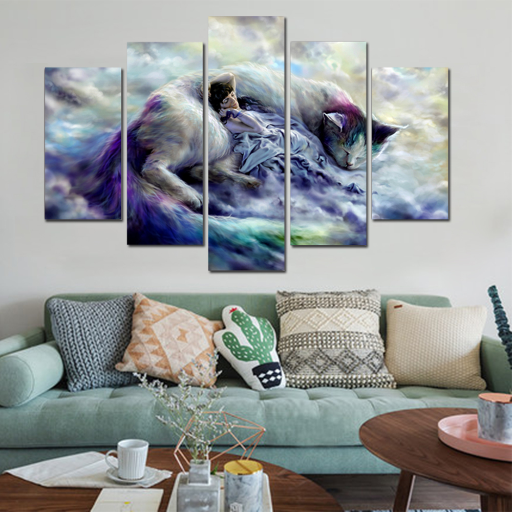 Unframed HD Canvas Prints Animation Cat Giclee Wall Decor Prints Wall Pictures For Living Room Wall Art Decoration Dropshipping