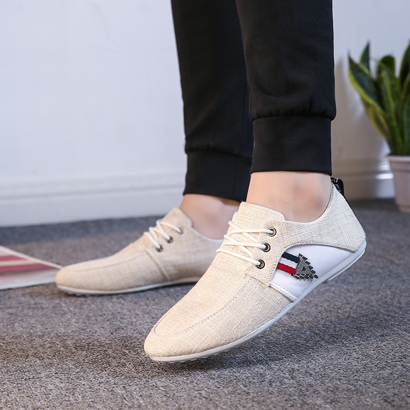 2018 new mens Casual Shoes canvas shoes for men outdoor walking fashion summer autumn Flats Male safety shoes Lace-up man Shoes