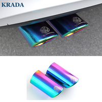 KRADA Car Exhaust Pipe Muffler Tip Turbo Sound Whistle Car Styling Auto For Volkswagen Vw Jetta