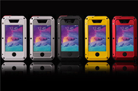 Original Waterproof Dirt Shockproof With Rugged Tempered Gorilla Glass Aluminum Metal Case For Iphone 4s 4