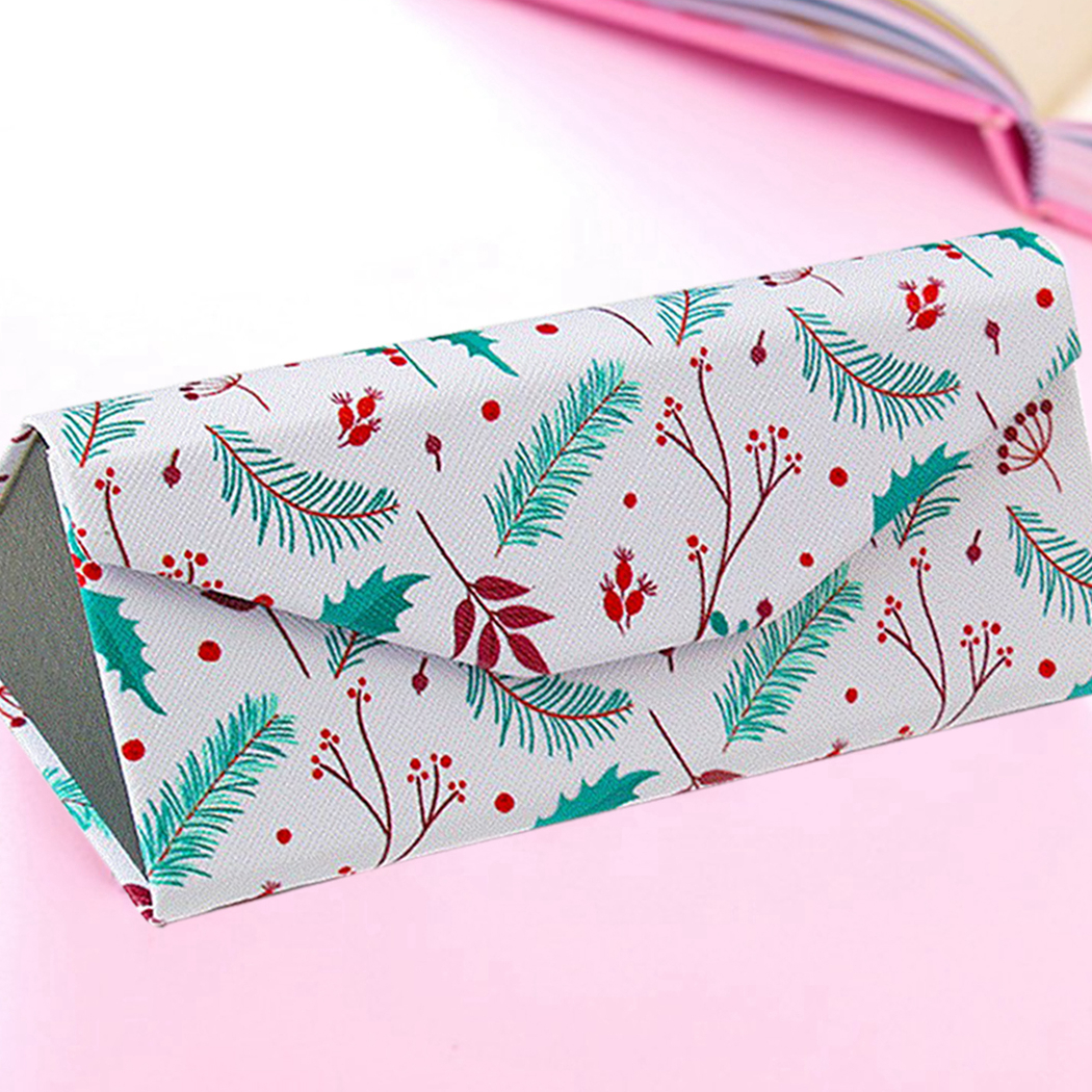 Foldable Glasses Case Sunglasses Box Simple Fresh Portable Animal Plant Printing Glasses Box For Men Women Students