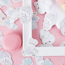 45pcs/box Lovely Cartoon Soft Rabbit Paper Label Stickers Decoration DIY Scrapbook Sticker Stationery