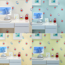 Child real cartoon DORAEMON wallpaper eco-friendly formaldehyde wallpaper