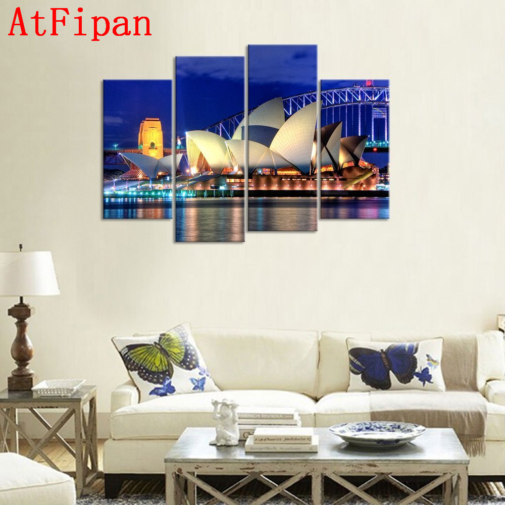 AtFipan Home Decor Canvas Painting Sydney Opera House