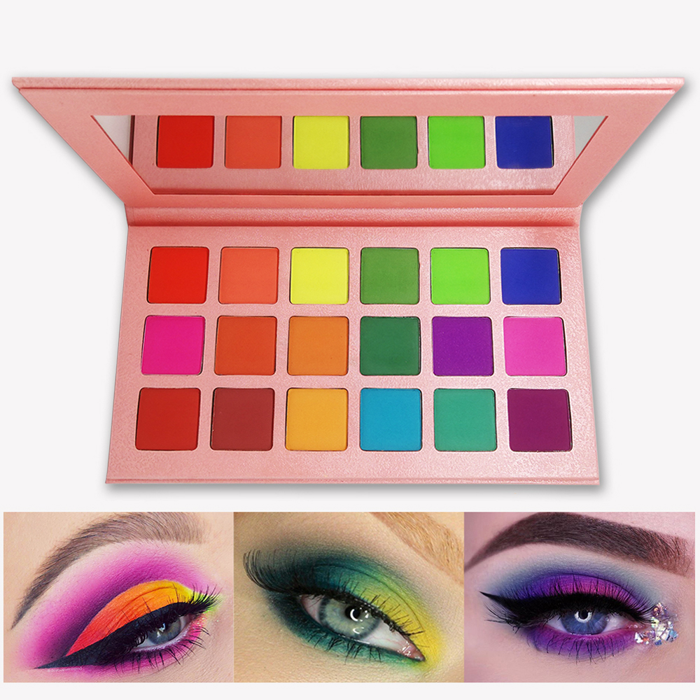 Image 3 - 18Colors Eyeshadow Palette Matte Maquiagem Profissional Completa Bright Shimmer Makeup Pallete Long Lasting Eye Shadow Palette-in Eye Shadow from Beauty & Health