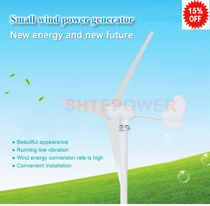 free shipping windmill power generator 500w 500 watts 3 phase ac 12v 24v 48v 3/5 blades 500w ac 12v 24v 48v brushless rare earth permanent energy generator