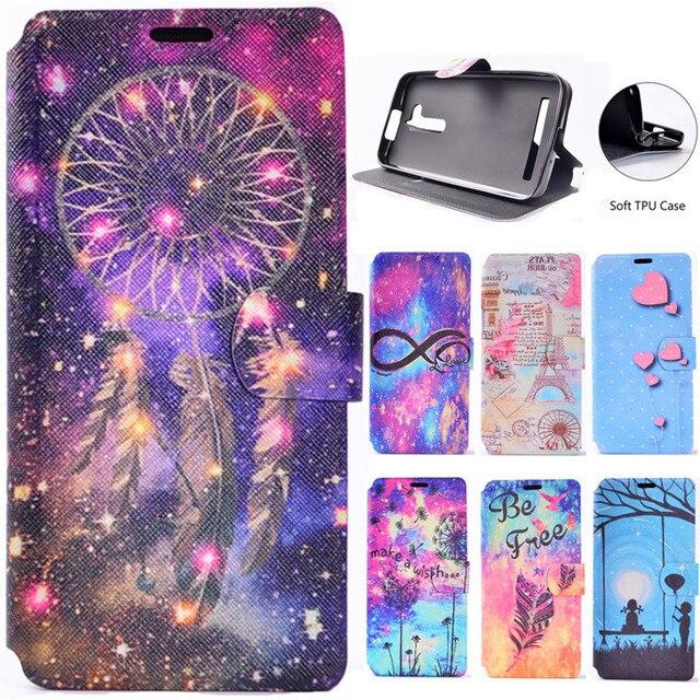 Luxury Cute Cartoon Dream Tower Leather Flip Fundas Phone Cases For Coque ASUS Zenfone Go ZB500KL / Zenfone 3 Max ZC520TL Cover