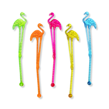 50pcs Disposable Flamingo Swizzle Sticks Wine Drink Stirrers Party Decor Plastic Cocktail Bar  Accessories Tableware Coffee