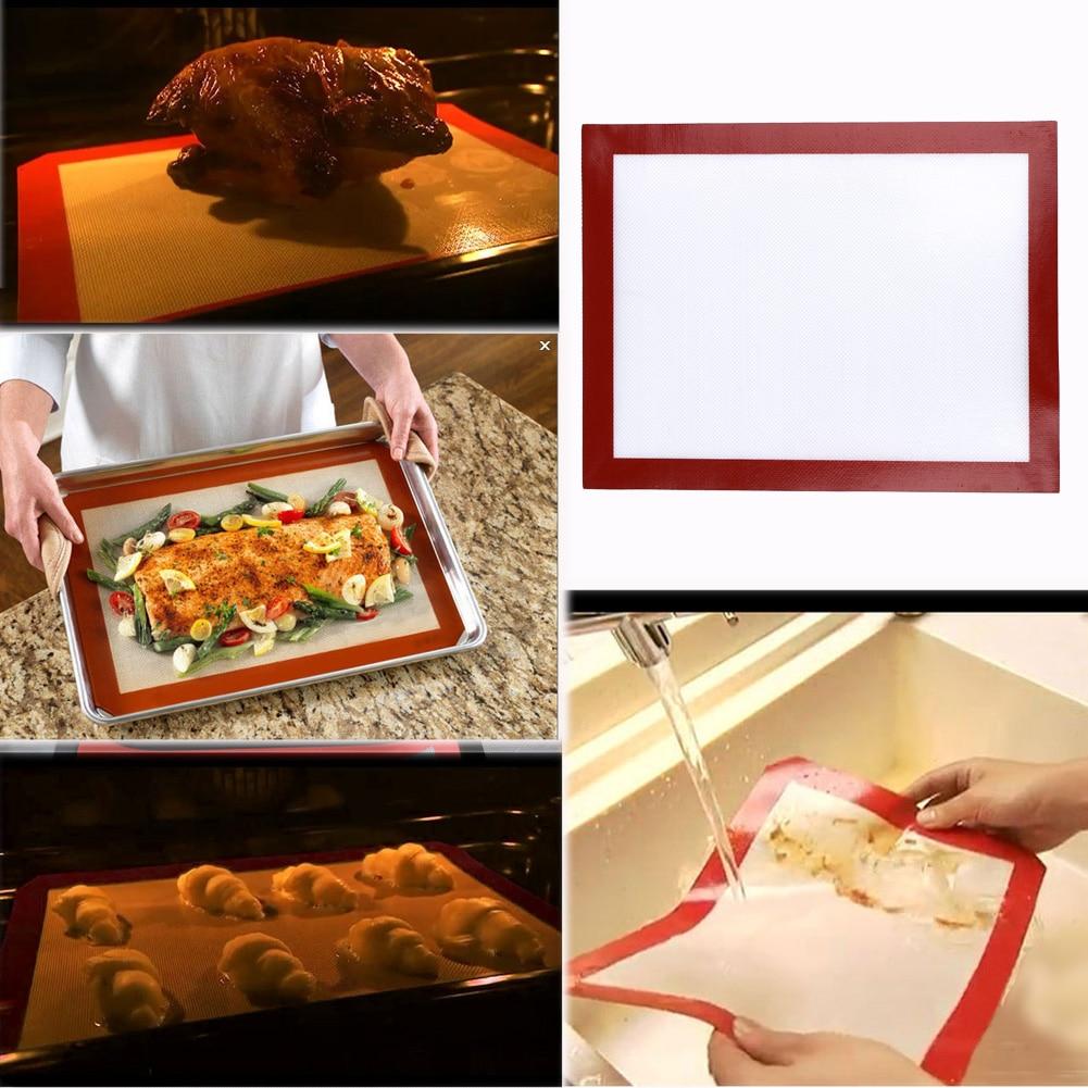 Non Stick Silicone Tapis De Cuisson Pad Feuille De Cuisson Pâtisserie Outils Rouler Le Tapis De Pâte À Rouler De Grande Taille pour Macaron Cake Cookie