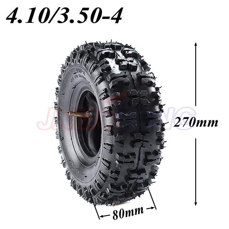 4.10/3.50-4 410/350-4 ATV Quad Go Kart 47cc 49cc 4.10-4 Tire inner tube Fit All Models 3.50-4 4