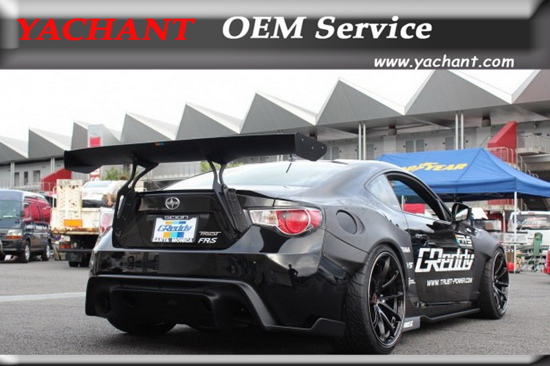 Car Styling Carbon Fiber GT Rear Trunk Spoiler Fit For GT86 FT86 ZN6 FRS BRZ ZC6 Greddy X Rocket Bunny Ver.1 Style GT Wing