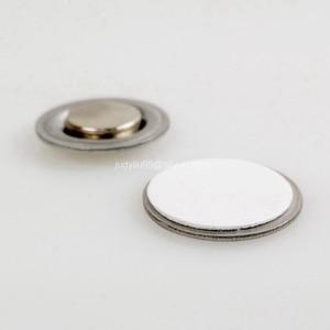 Image 4 - 50 יח\חבילה עגול מגנט עם דבק לכפתורים שם תגי דש סיכות משלוח חינם